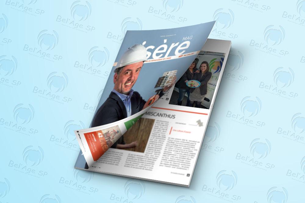 photo de couverture et article paru dans le magazine Isère Mag, interview de Saida El Marie et Auria Saint-Patrice pour Bel'Age Services de Proximité, service à domicile, Grenoble, portage de repas