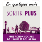 image violette et blanche de l'action sociale sortir plus de l'AGIRC et de l'ARRCO, bel'Age Services de Proximité, livraison de repas à domicile, service à la personne, Grenoble