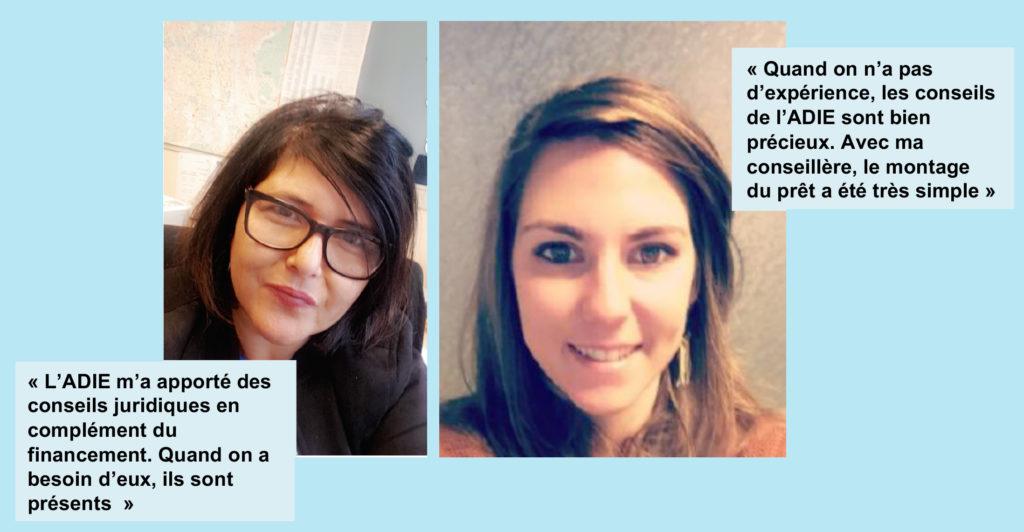 photo de Saida El Marie et Auria Saint-Patrice, les deux entrepreneuses à la direction de Bel'Age Services de Proximité, Grenoble, services à domicile